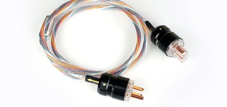 Aucharm AUAPPC1 câble dalimentation plaqué argent HIFI EXQUIS coloré 4 NRed cuivre US AU bouchon de coque en aluminium