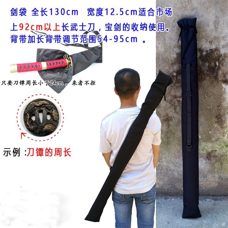 black Japanese knife sword bag back style Kendo kung fu martial arts warrior knives bags Bamboo katana swords bag