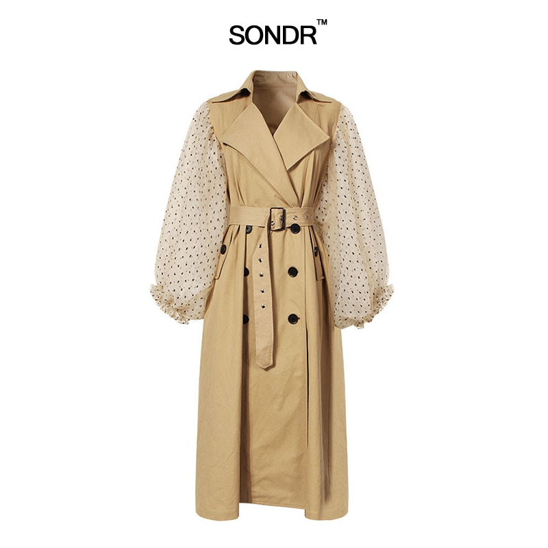SONDR 2019 الربيع الزنانير سترة واقية للنساء خليط فانوس كم عالية حزام خصر الأنثى سترة الملابس عارضة جديد
