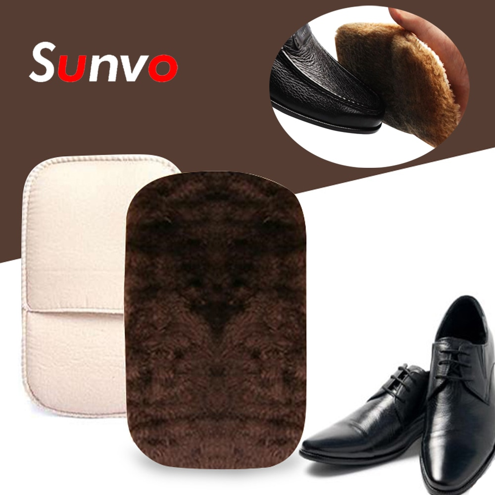 Sunvo Leather Shoe Care Brush Gloves for Polishing Cleaning Soft Imitation Wool Plush Shoes Cleaner Wipe Shoes Mitt Random Color bristles become warped head shoe brush polishing leather shoes polish wipe scrub fur soft hair