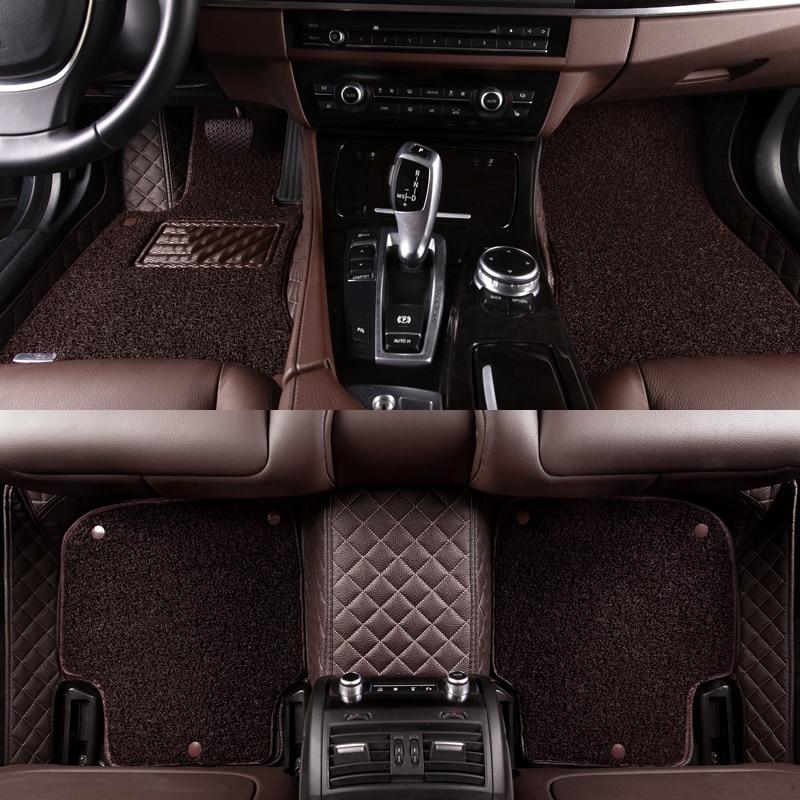 HLFNTF-alfombrillas dobles personalizadas para coche, accesorios de personalización de automóviles, para Saab,...