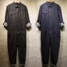 S-XXXL! 2017 hiver nouvelle vague de jeans pour hommes costume décontracté couleur unie grande taille outillage combinaisons vêtements de nuit de rue combinaisons