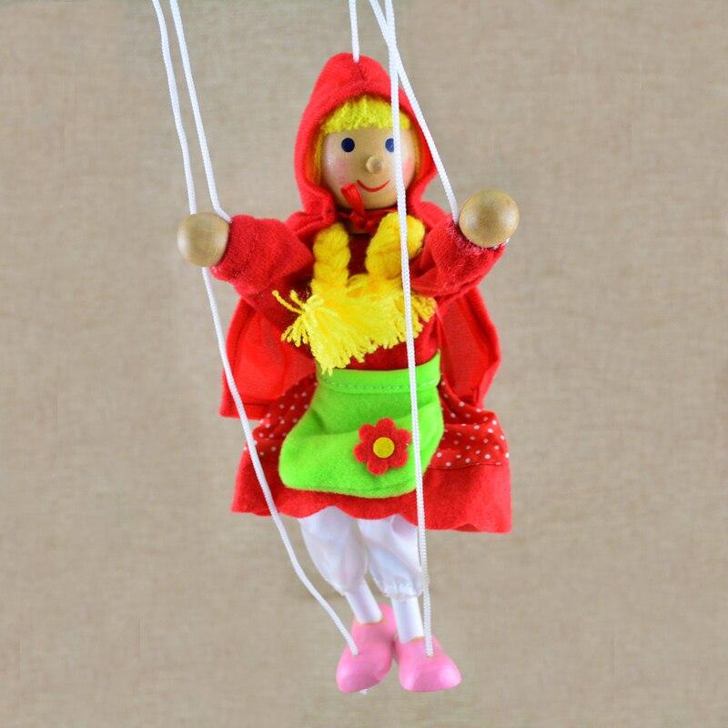 Nuevo juguete divertido, marioneta de cuerda, pequeño sombrero rojo, marionetas de madera para niñas, juguete de marionetas, muñeca de actividad conjunta --- adorable