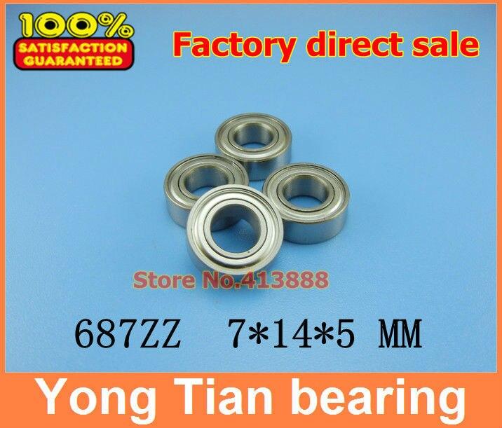 (1 piezas) SUS440C resistente a la corrosión ambiental de acero inoxidable rodamientos de bolas de ranura profunda S687ZZ 7*14*5mm