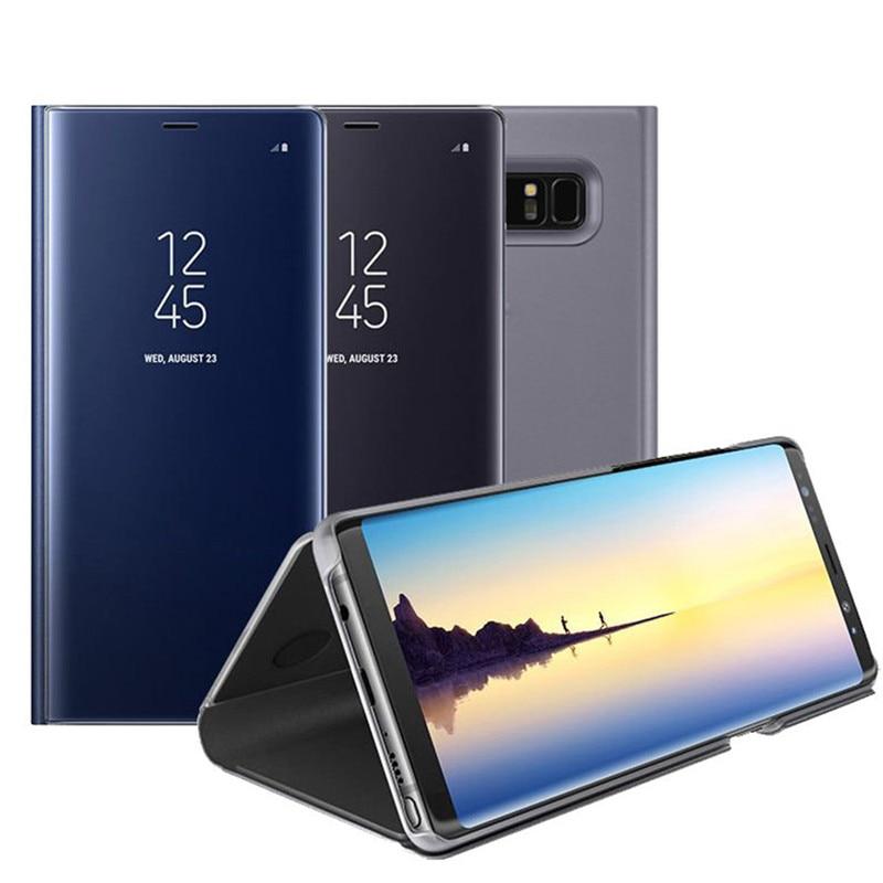 Зеркальные флип-Чехлы для Samsung Galaxy S9 Plus S8 Plus S7 S6 Edge, чехол для смартфона Samsung Note 9 8 Note 5