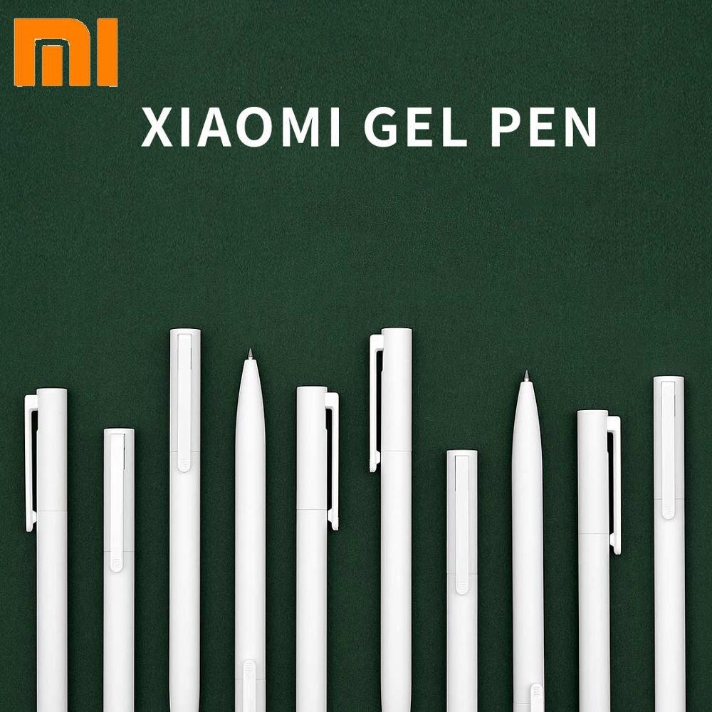 Oryginalny Xiaomi długopisy żelowe 0.5mm Bullet czarny cienkopis Pen Press Core PREMEC gładki wkład szwajcarski MiKuni japonia atrament czarny 5 sztuk/10 pc