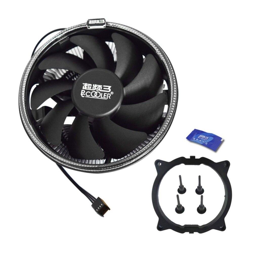 Pccooler 12 cm ventilador de refrigeración con LED apertura 4pin PWM tranquilo enfriador de CPU hidráulico dinámico Bearing CPU de refrigeración del radiador