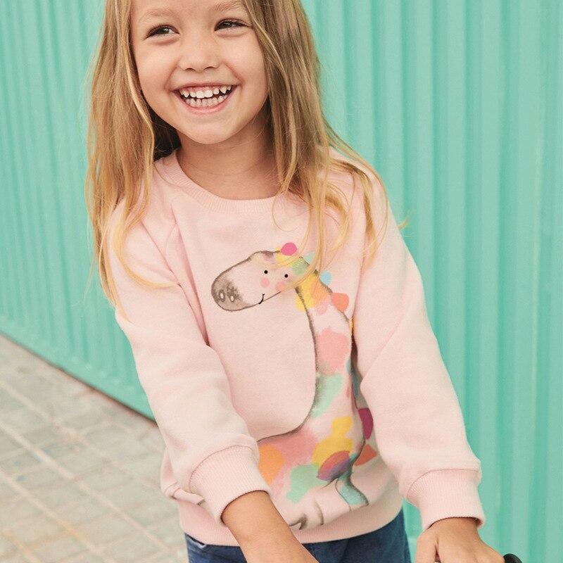 Толстовка для маленьких девочек Little maven, Розовая тонкая одежда с принтом жирафа для маленьких девочек, C0168, осень 2019