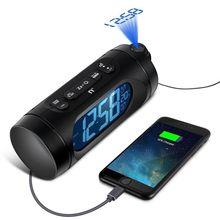 FM радио часы светодиодный цифровой будильник электронные настольные часы проектор часы с подсветкой часы Nixie с проекцией времени