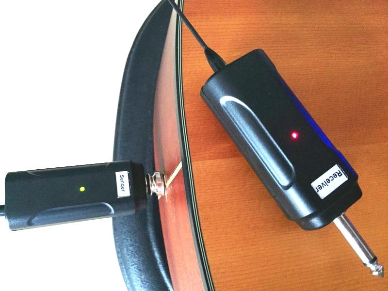 Electric Guitar Bass Musical Instrument Wireless Guitar Microphone System Audio Sound Input Output Sender Receiver Flute Drum