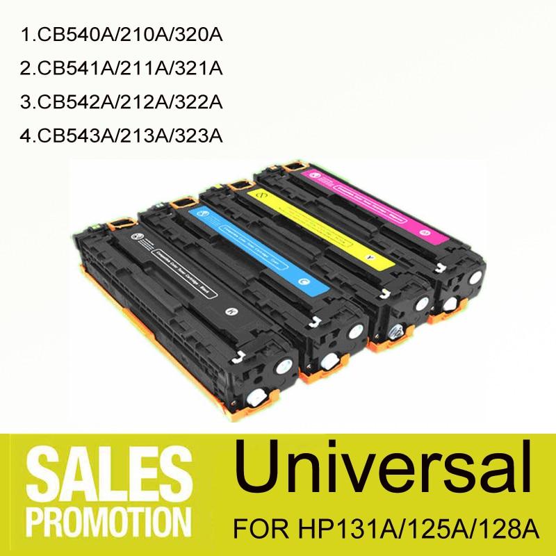 Universal 131A 125A 128A Color LaserJet Toner Cartridge for HP Pro 200/ M251 /M276n / CP1210/1215/1515/1518/CM1312CM1312NFI