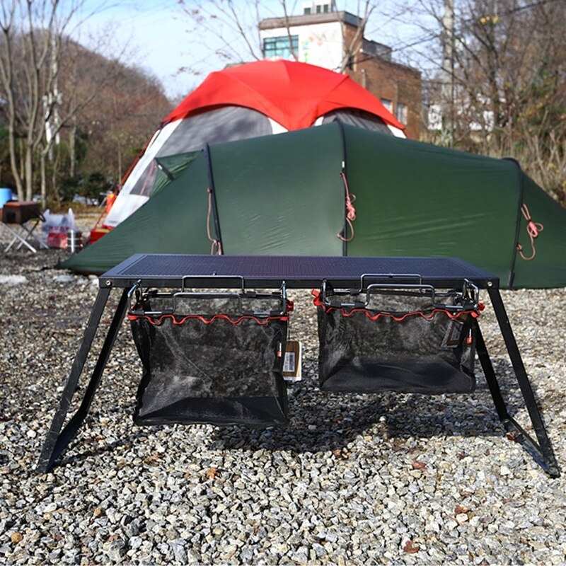 Outdoor Camping Keukengereedschap Zak Bagagenet Zak Opknoping Netto Draagbare Picknick Tafel Netto Pocket Keuken Klaptafel Netto Zak