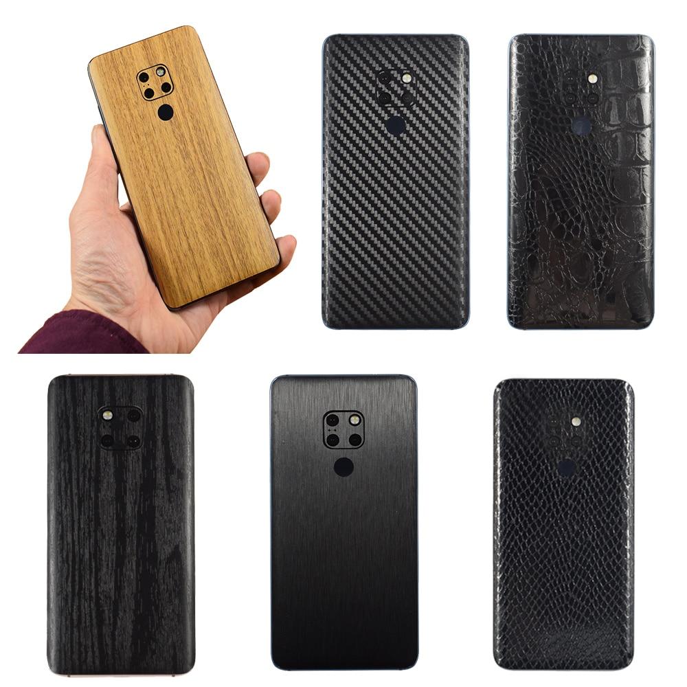 3D углеродное волокно/Рисунок/дерево шкуры Телефон задняя крышка наклейка для HUAWEI P30 Pro P30 Lite mate 20 mate 20X mate 20 Pro/20 Lite