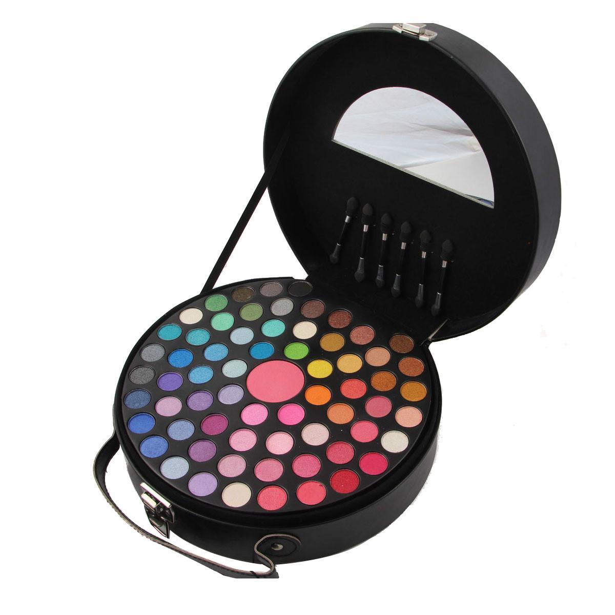 65 farben Matte Schimmer Lidschatten Rund Hand Make-Up Fall Set