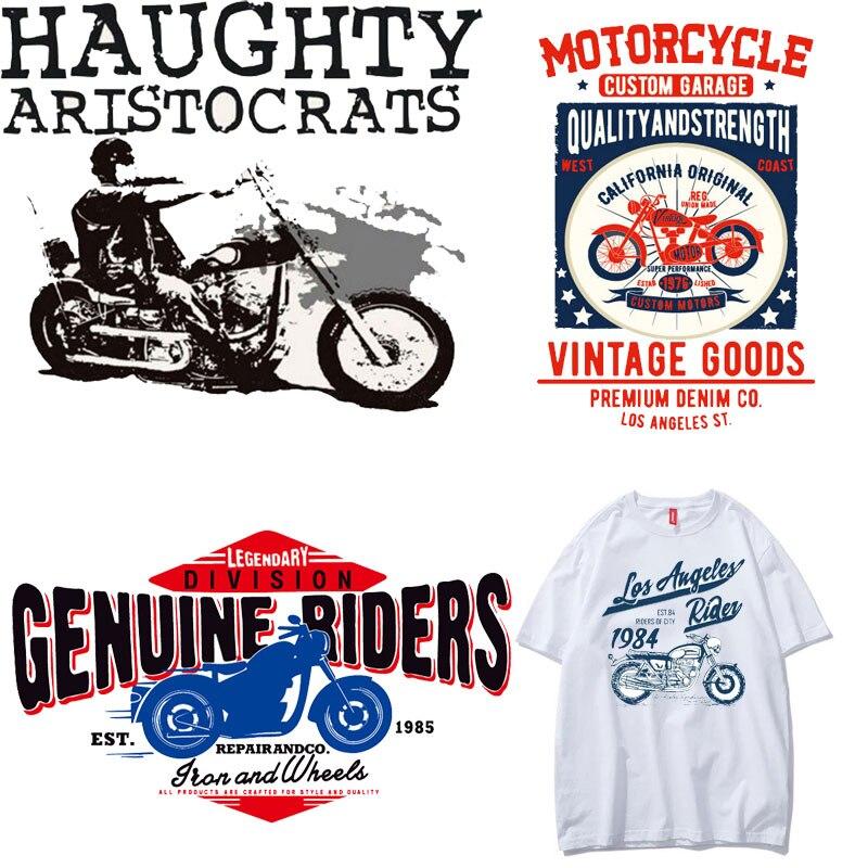 Moda tendencia superior de la motocicleta de la ropa de los hombres de hierro en parches de transferencia de calor de la ropa de vinilo DIY chaqueta de camiseta Accesorios