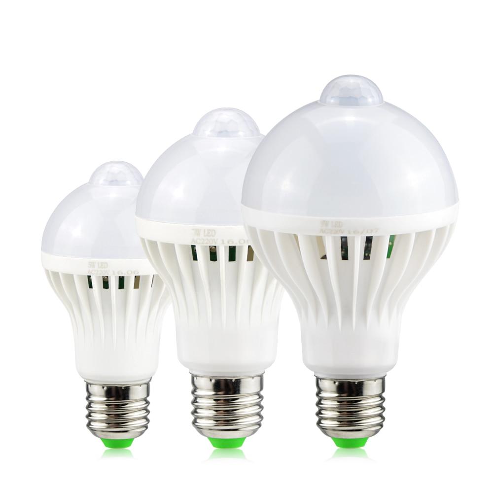 220 V IR Infrarot Motion Sensor/Sound Sensor LED Lampe 3 W 5 W 7 W 9 W 12 W LED Schrank licht Lampen Für Korridor Treppen Nacht licht