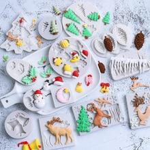 Christmas Series Silicone Mold Fondant Mould Cake Decorating Tool Chocolate, Gumpaste Mold, Sugarcraft ,Kitchen Gadgets
