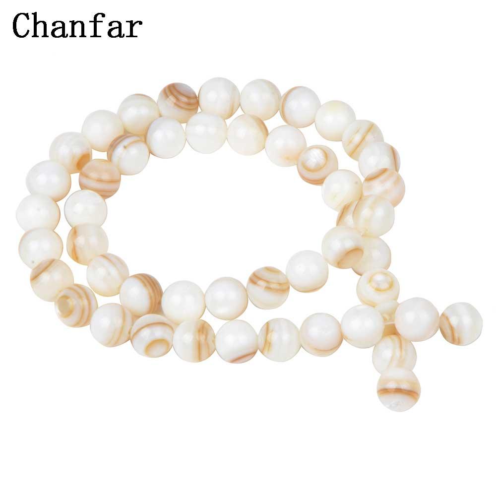 Perles en coquillage chinois pour femmes bijoux en coquillage faisant des perles en vrac 4 6 8 10 12mm