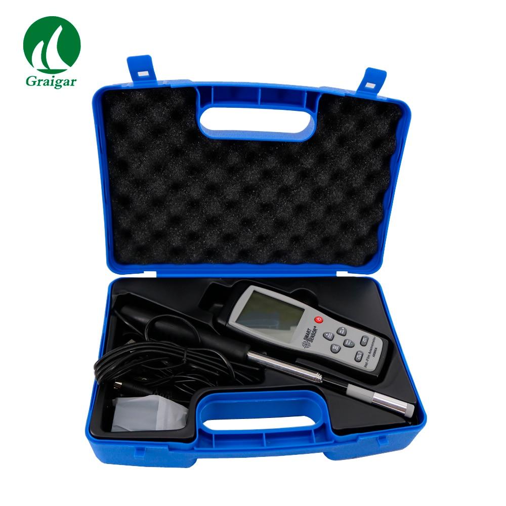 الذكية استشعار AR866A الساخن سلك الحرارية مقياس شدة الريح سرعة تدفق الهواء مقياس سرعة الرياح المشتركة الطقس محطة أداة