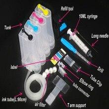 INKARENA système dalimentation en encre continue couleur CISS kit accessoires réservoir de remplacement pour HP 15 17 20 21 22 23 26 27 28 29 imprimante