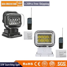 50W 12V LED 360 Grad MAGNATIC Suche Licht Für Auto Boot Spot Fernbedienung led arbeits licht 7 zoll Hohe basis led camping licht