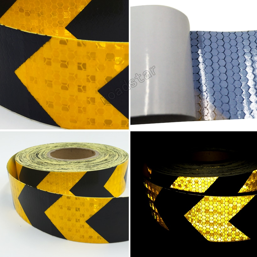 5CMx10M Reflective Car Stickers Style Safety Reflective Material For Car Automobile Pick-up Motorcycle Bike