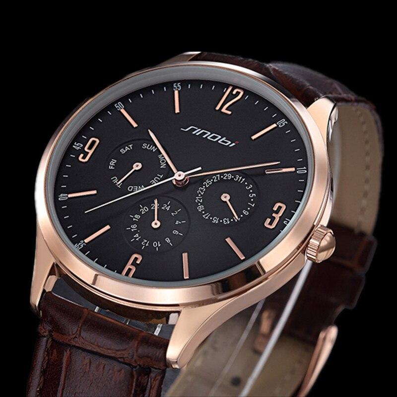 Sinobi Top Brand Luxury Watch Men Watch Fashion Waterproof Business Watch Male Hour Quartz Clock relogio masculino reloj hombre