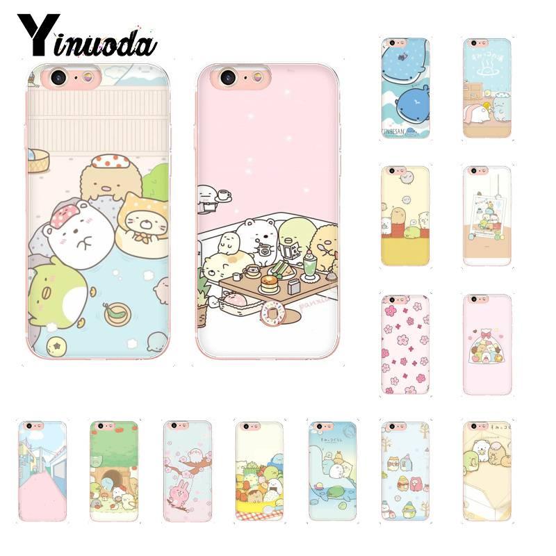 Yinuoda divertido dibujos animados arte de engomada sumikko gurashi Coque caja del teléfono Shell para iPhone 8 7 6 6S Plus X XS X MAX 5 5S SE XR 11 11pro 11promax