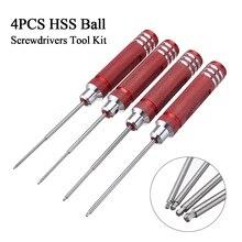 Drillpro 4 قطع HSS الكرة المفكات أداة كيت 0.05 1/16 3/32 5/64 بوصة مفك إصلاح أداة عالية السرعة الصلب اليد أدوات