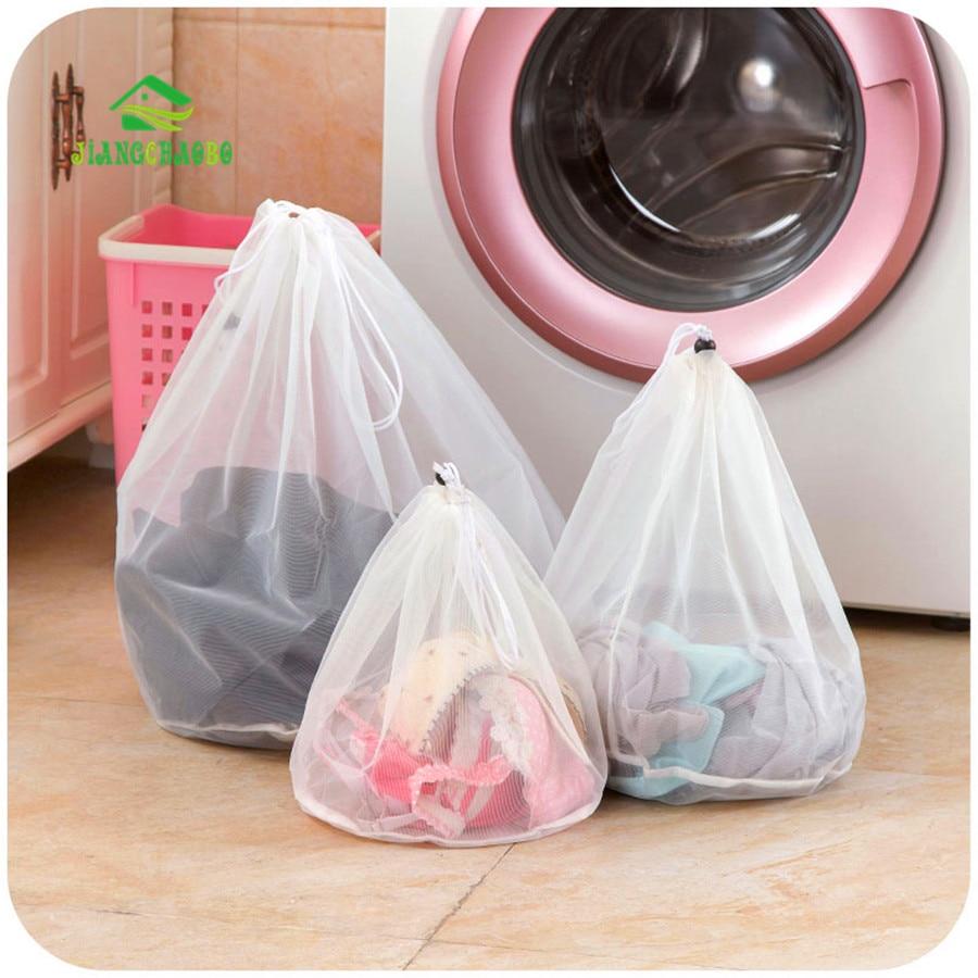 3 שקית רשת סלי שקיות שרוך גודל מוצרים תחתוני חזיית כביסה ניקוי ביתי אביזרי כלים כביסה לשטוף טיפול