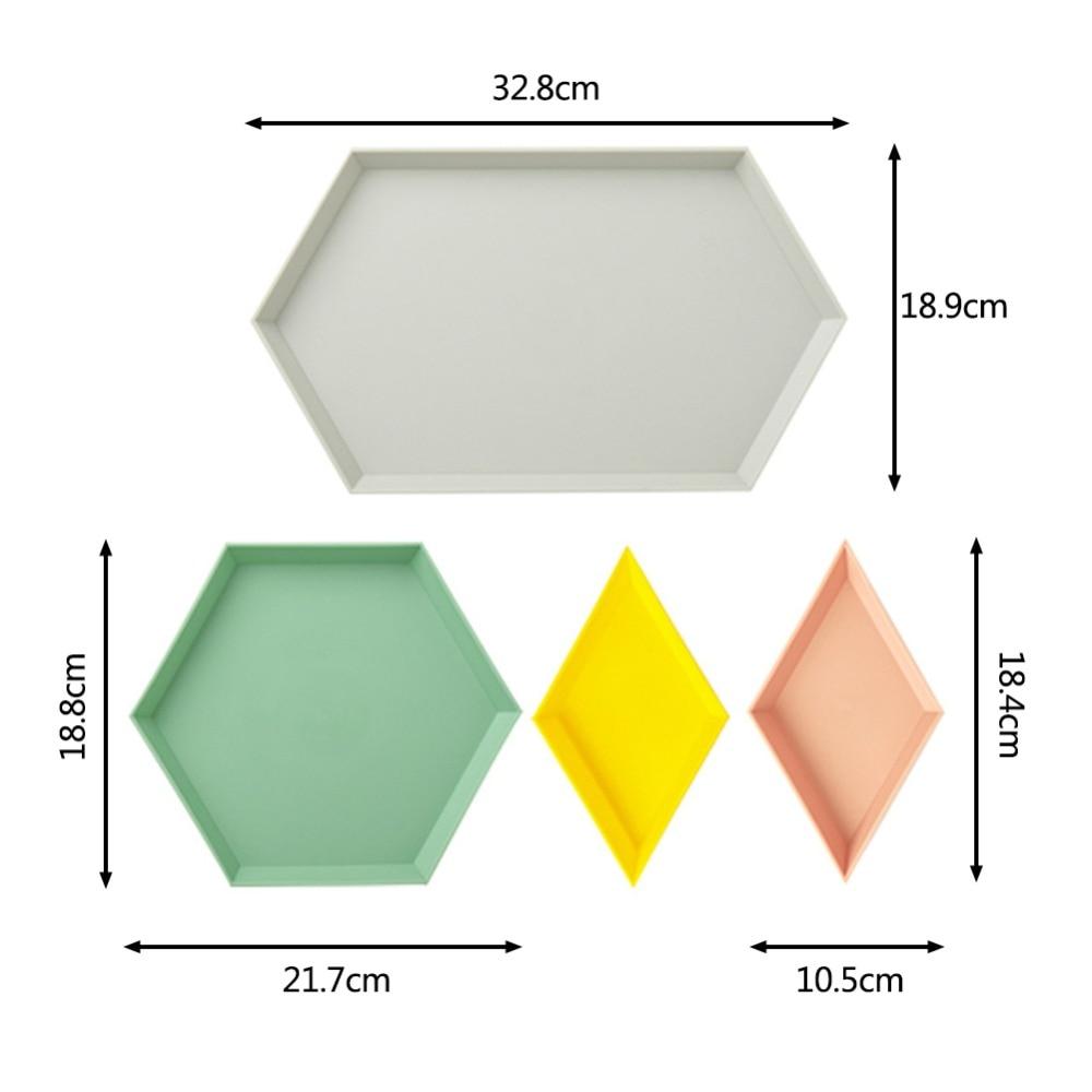 AliExpress - 4PCS/Set Innovative Color Geometric Storage Tray Removable Fruit Plastic Combination Desktop Storage Tray Detachable Fruit Plate