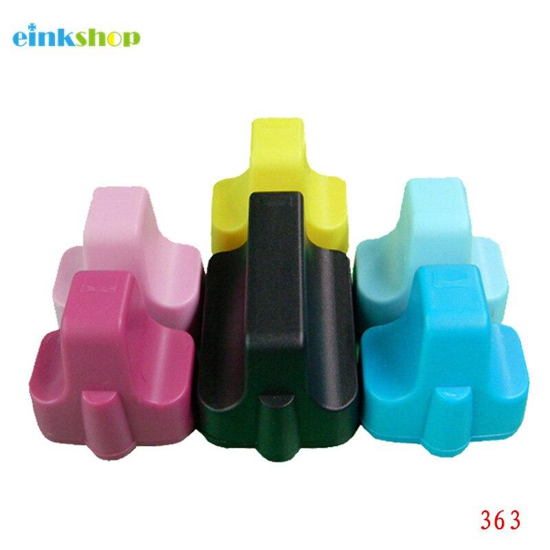 Reemplazo de cartucho de tinta Compatible einkshop 363 para HP 363 para impresora Photosmart C5180 C6180 C7180 C7280 C8180 3310