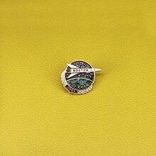 Советский космический корабль Boctok эмалированная булавка CCCP День космонавтики 1961 значок СССР Красная звезда брошь астронавт подарок