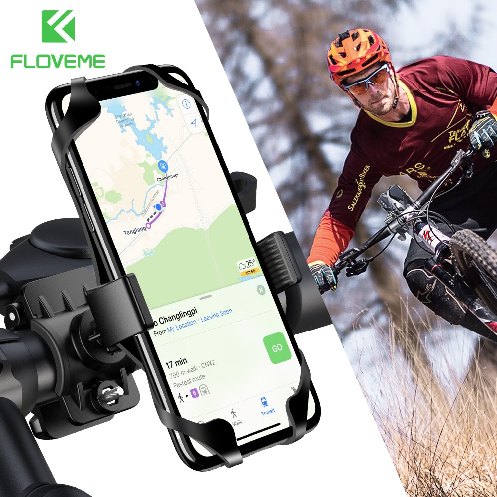 FLOVEME Bicycle Phone Holder 360 Degree Universal Phone Holder For Bike Bicycle Motorcycle Handlebar Mobile Smartphone Support