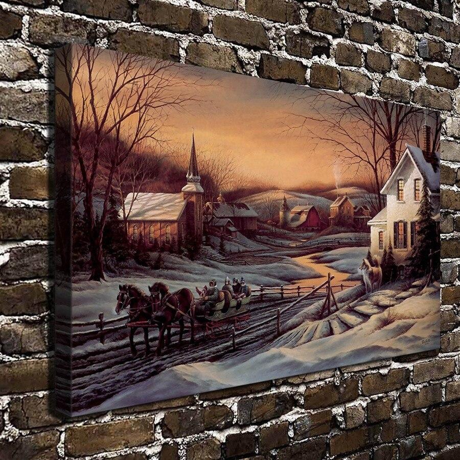 Terry Redlin dibujos al aire libre y escenas de animales lienzo pintura sala de estar decoración del hogar arte Mural moderno pintura al óleo #042