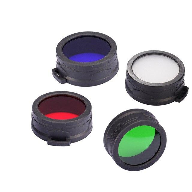 Envío Gratis NITECORE NFR60 NFB60 NFG60 NFD60 filtro adecuado para la linterna con cabeza de 60mm