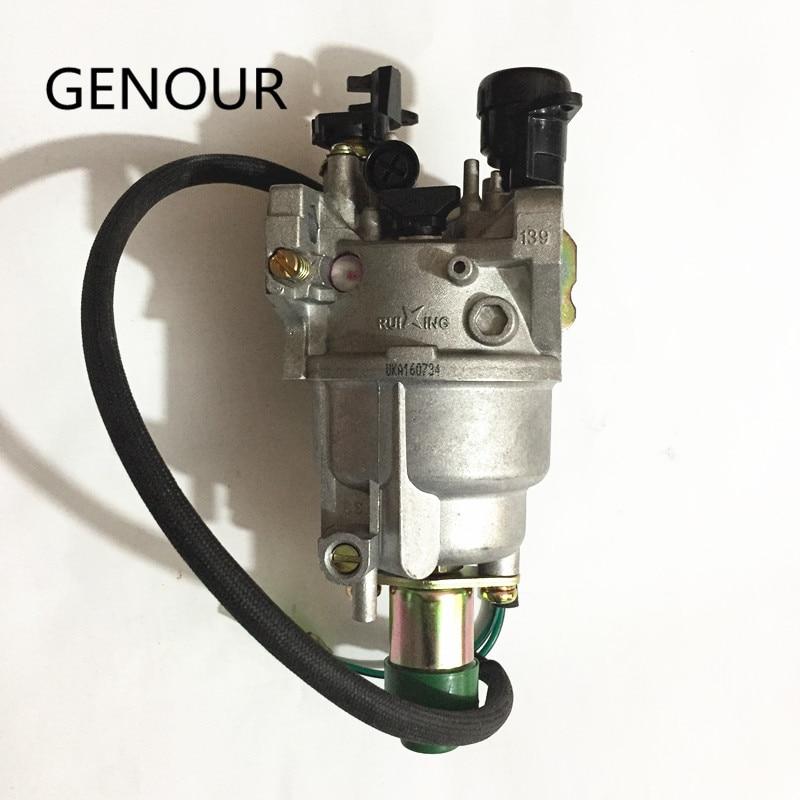 Carburador Ruixing PARA MOTOR GENERADOR GX390, generador de gas de 5kw, EC6500 188F 389CC, carburador de la mejor marca Ruixing con Auto choke