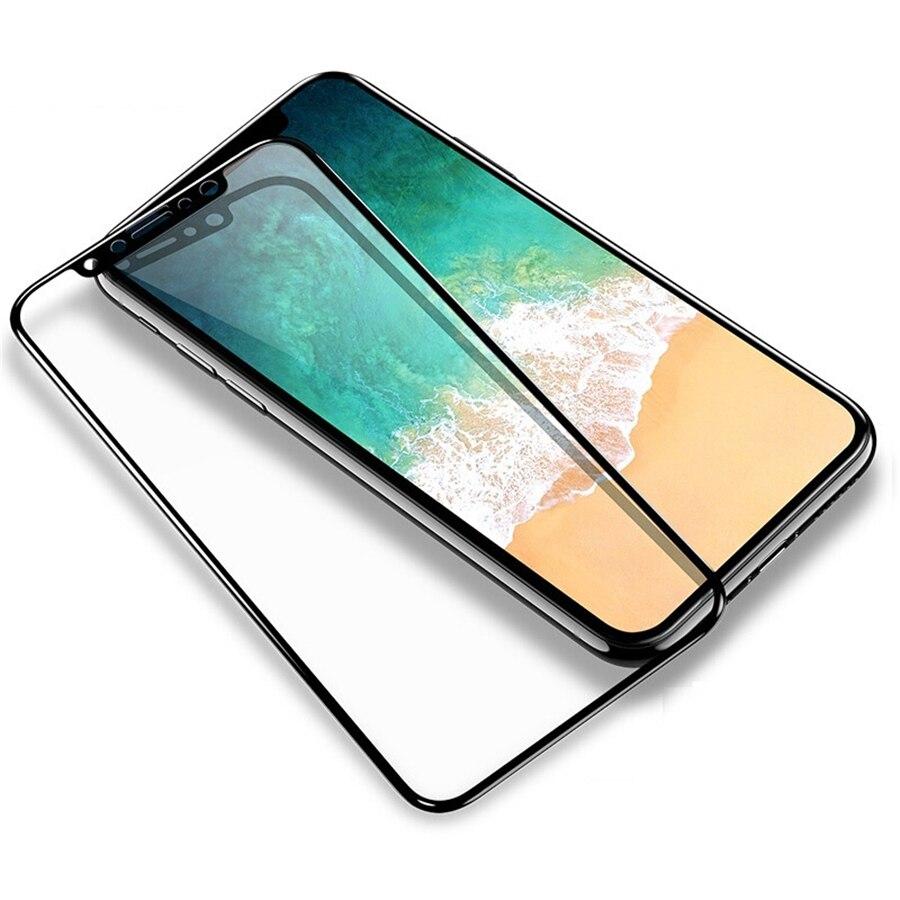 Para iPhone X XR XS Max Protector de pantalla de vidrio templado película protectora para i phone 8 7 Plus Protector Anti explosión Anti-rotura