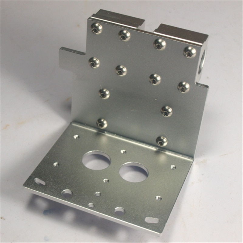 Reprap Prusa i3 eje X de doble salida hotend de Metal X dual exturder transporte para DIY 3D impresora de aleación de aluminio de 45mm agujero distancia
