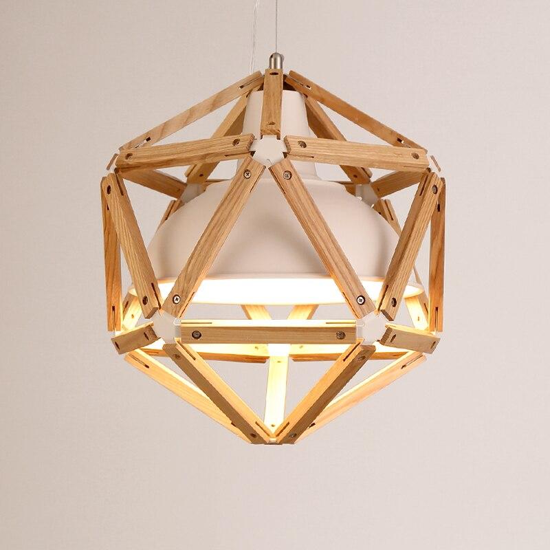 Винтажный подвесной светильник в японском стиле, 35/45 см, подвесной светильник из дуба и железа, Ретро лампа E27 110/220 в, подвесной светильник