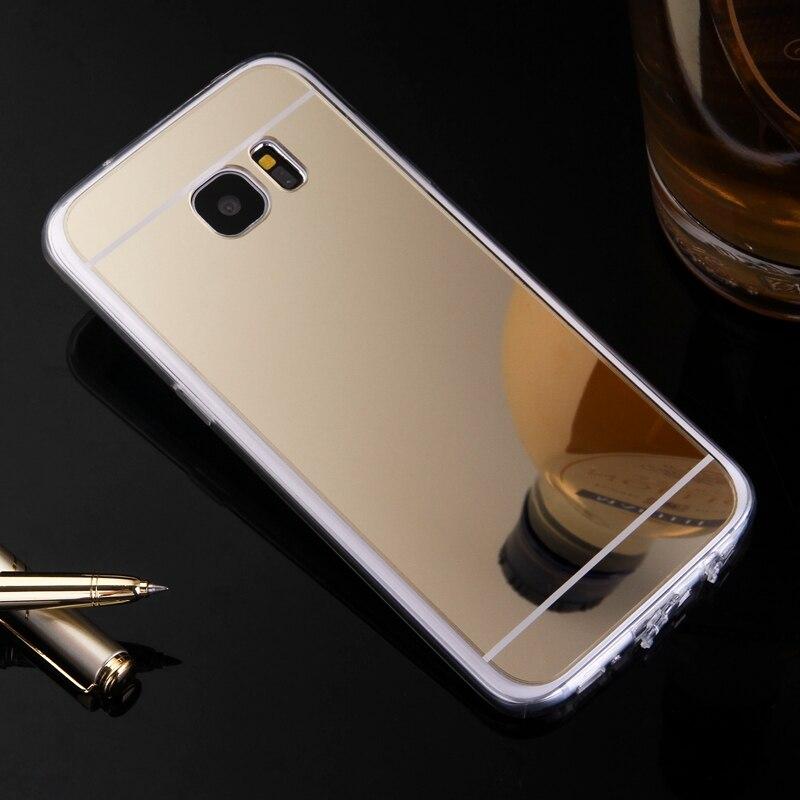 Espejo TPU caso de la contraportada para Samsung Galaxy J1 Ace J120...