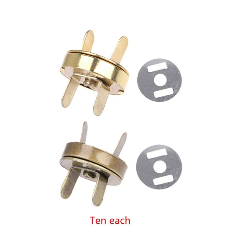 osmond alloy tone turn locks snap clasps closure buckle for bags accessories diy handbags purse alloy button replacement lock 10x Magnetic Snap Buckle For DIY Clasps Closure Handbag Purse Bags Accessories
