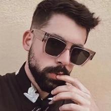 Flat Top Sunglasses Men Bold Rectangle Narrow Shades Women Sun Glasses Female Brand Vintage Luxury S