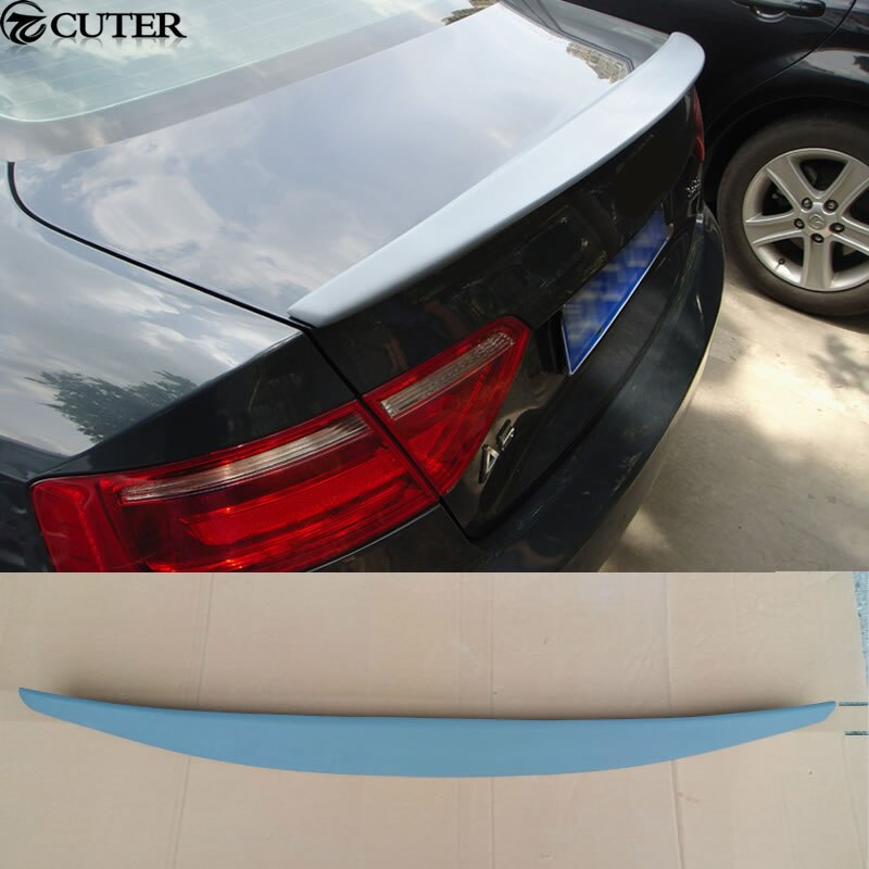 Alerón de ala para techo de automóvil A5 PU sin pintar gris para Audi A5 Coupe 08-13