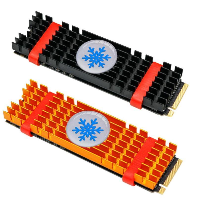 1 Uds. Disipadores de calor de aleación de aluminio PCIe NVMe M.2 2280 SSD radiador portátil PC memoria refrigeración Fin disipación de calor radiador promoción