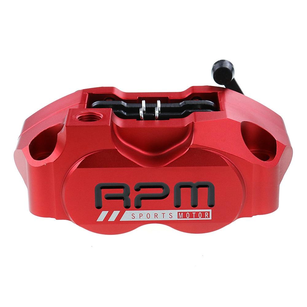 Bomba de freio da motocicleta rpm pinça freio 82mm montagem 4 pistão radial para yamaha kawasaki scooter rsz jog força sujeira bicicleta modificar
