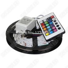 LED Strip RGB Changeable Waterproof IP65 RGB LED tape flexible neon light ribbon 5m 300Leds+ 24Keys Remote Controller,5set/lot