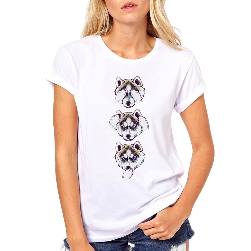 Camiseta estampada con perro mascota Pug 2019, camisetas divertidas para mujer, camiseta de manga corta sin cáscara malvada, camiseta con Animal bonito