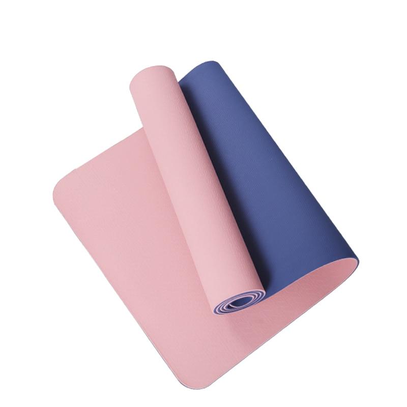 Нескользящий Коврик для йоги 183*61*0 6 см мм спортивные коврики из ТПЭ фитнеса