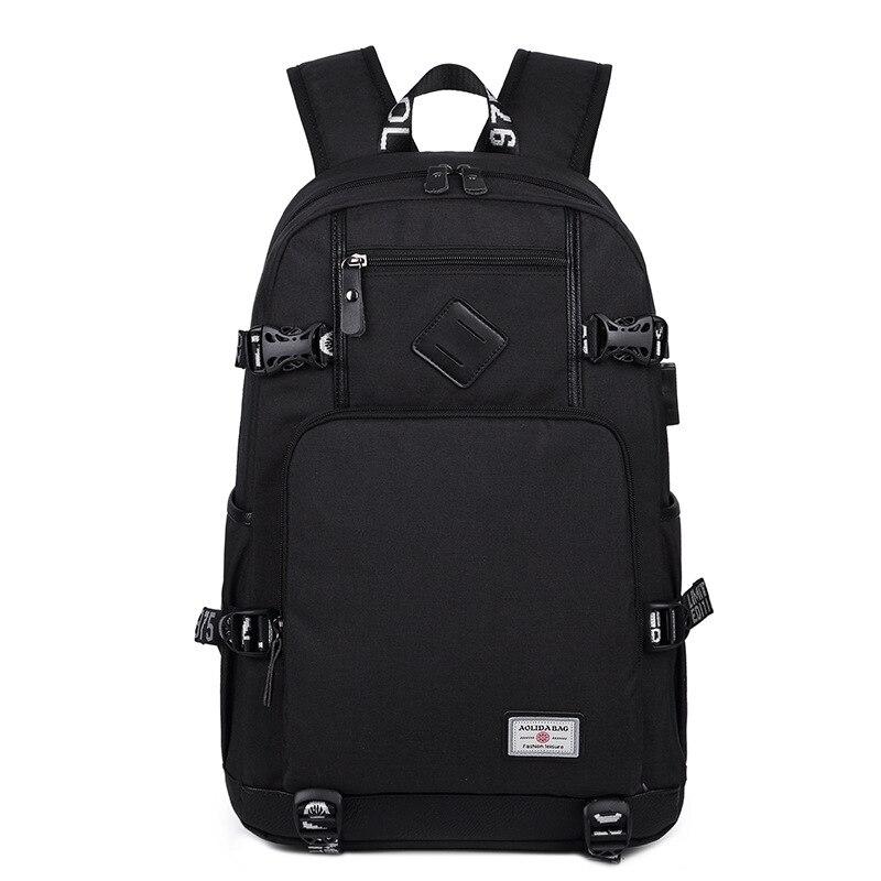 Mochila Usb para portátil, mochila escolar antirrobo para hombres, mochila de viaje, mochila de ocio para hombre